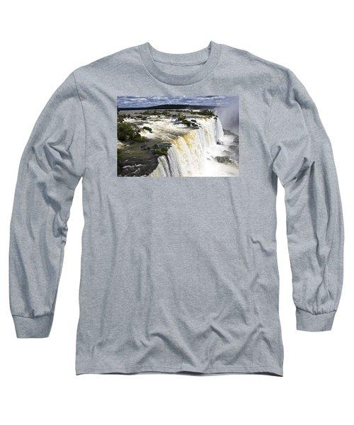 The Stunning Falls Of Iguacu Brazil Side Long Sleeve T-Shirt