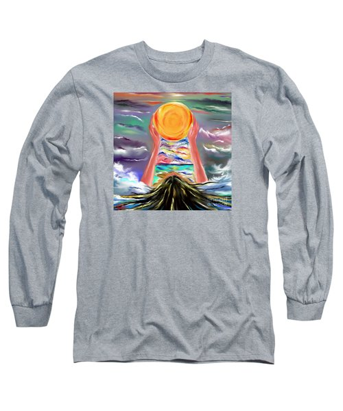 Long Sleeve T-Shirt featuring the drawing The Sun Will Shine Again by Lori  Lovetere