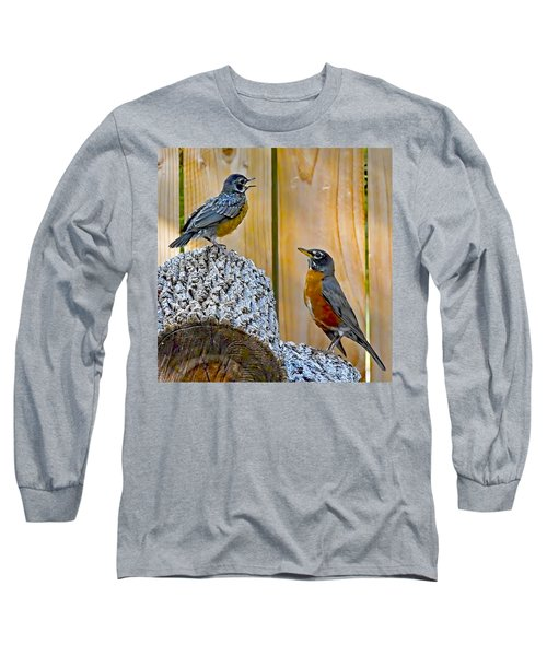 The Voice Lesson Long Sleeve T-Shirt by Gary Holmes