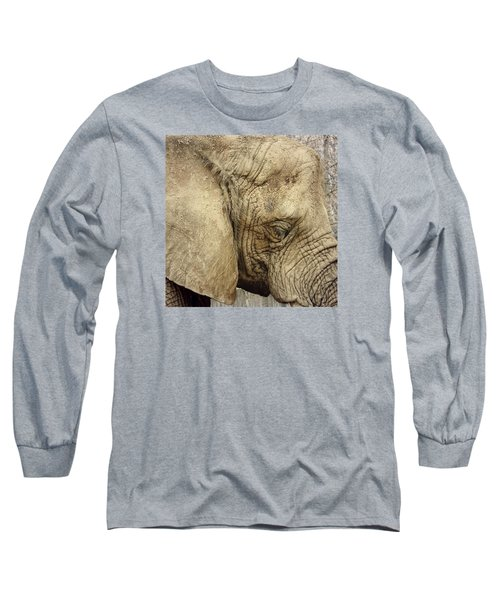 Long Sleeve T-Shirt featuring the photograph The Wise Old Elephant by Nikki McInnes