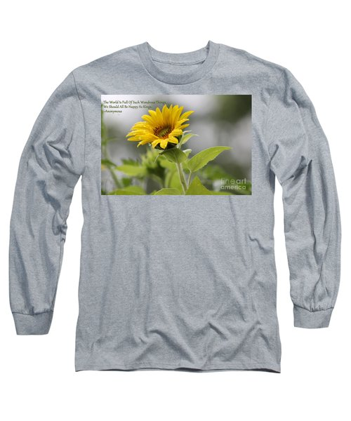 The World Is Full Long Sleeve T-Shirt
