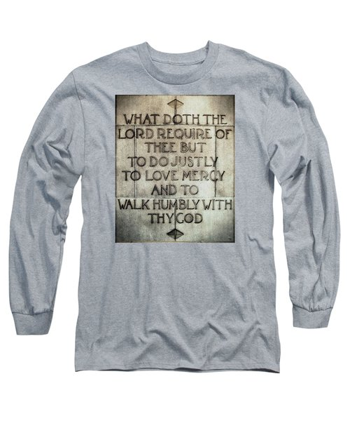 Long Sleeve T-Shirt featuring the photograph The Writing Is On The Wall by Glenn McCarthy Art and Photography