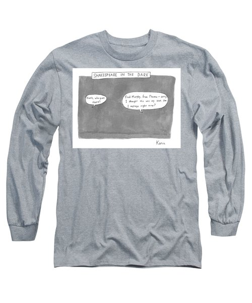 There Is A Dark Scene With Two Word Bubbles Long Sleeve T-Shirt