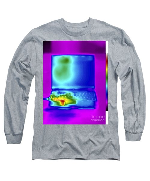 Thermogram Of A Laptop Long Sleeve T-Shirt