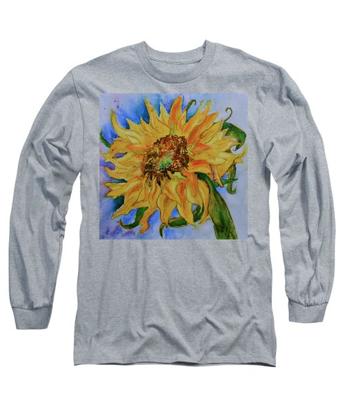 This Here Sunflower Long Sleeve T-Shirt by Beverley Harper Tinsley
