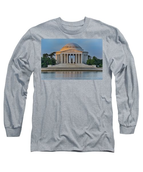 Long Sleeve T-Shirt featuring the photograph Thomas Jefferson Memorial At Sunrise by Sebastian Musial