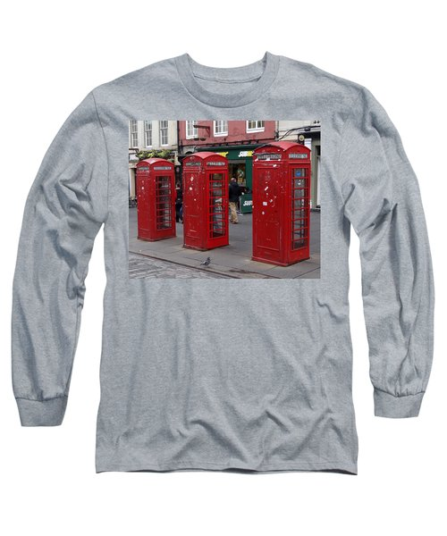 Those Red Telephone Booths Long Sleeve T-Shirt