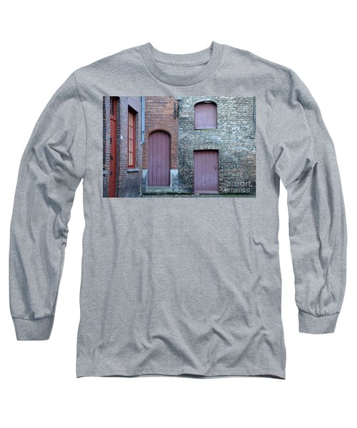 Three Doors And Two Windows Bruges, Belgium Long Sleeve T-Shirt