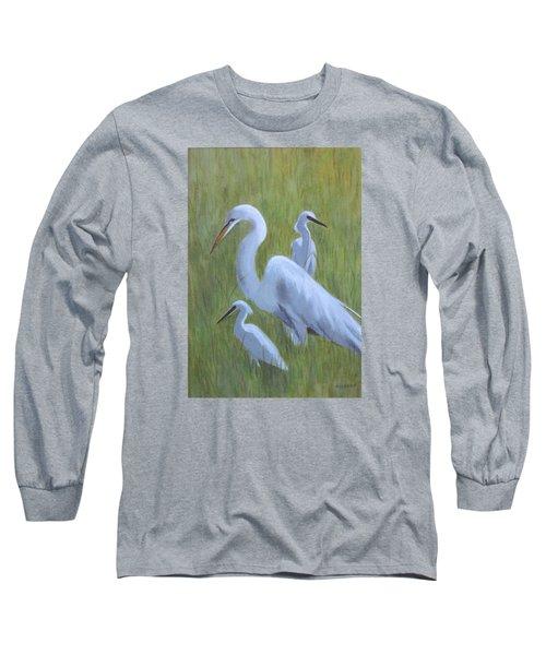 Three Egrets  Long Sleeve T-Shirt