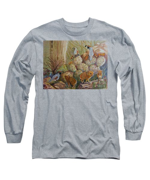 Three Little Javelinas Long Sleeve T-Shirt by Marilyn Smith
