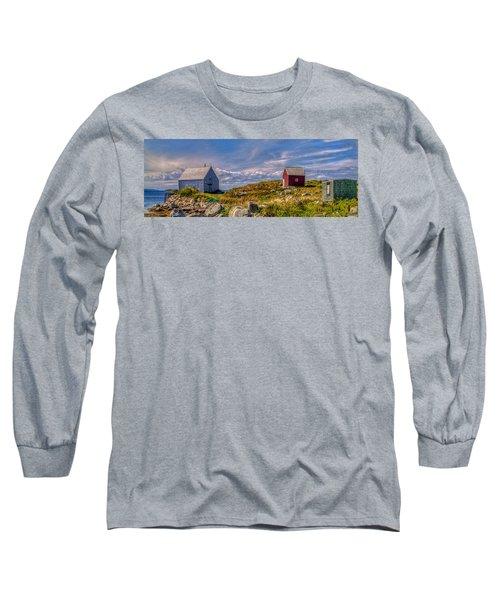 Three Shacks By The Sea Long Sleeve T-Shirt