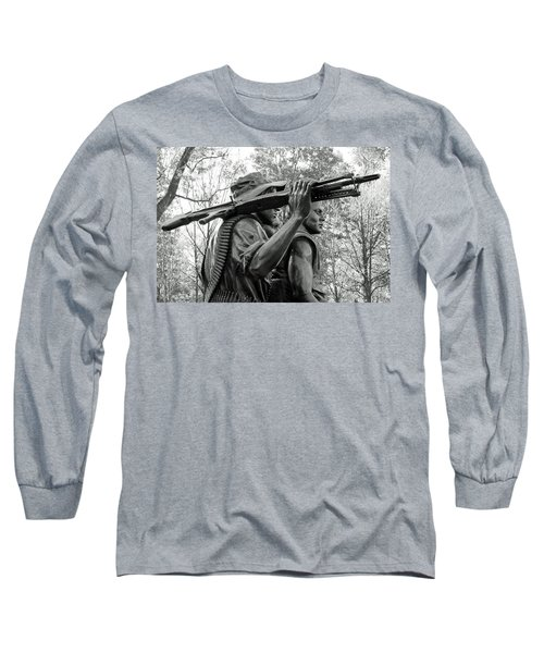 Three Soldiers In Vietnam Long Sleeve T-Shirt by Cora Wandel