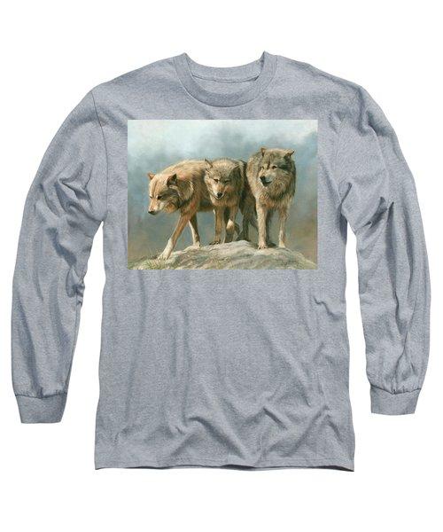 Three Wolves Long Sleeve T-Shirt