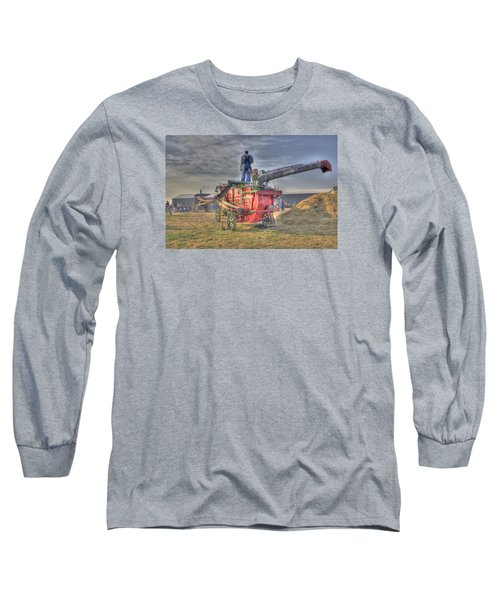 Threshing At Rollag Long Sleeve T-Shirt