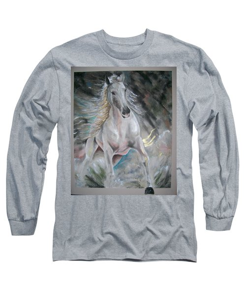 Thrusting Out Long Sleeve T-Shirt by Peter Suhocke