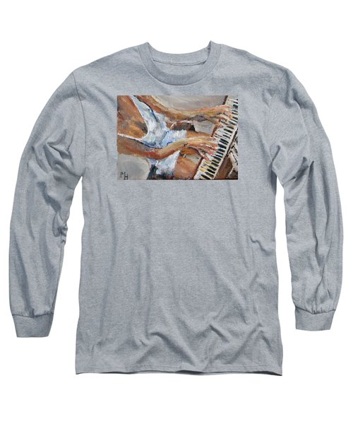 Tickling The Ivories Long Sleeve T-Shirt by Michael Helfen