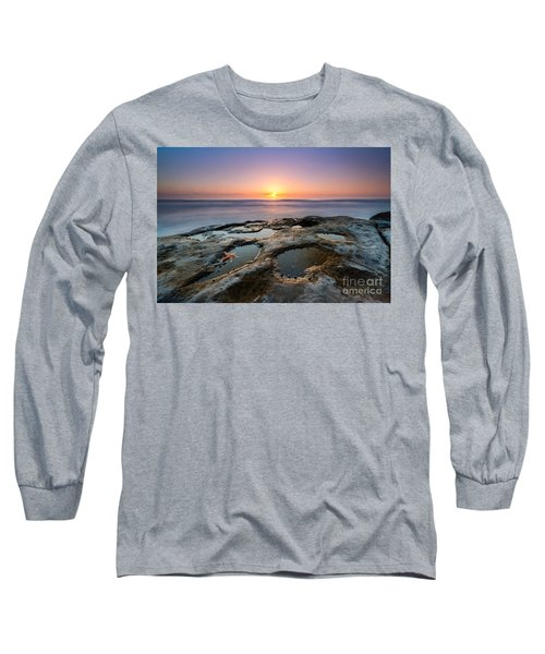 Tide Pool Sunset Long Sleeve T-Shirt by Michael Ver Sprill