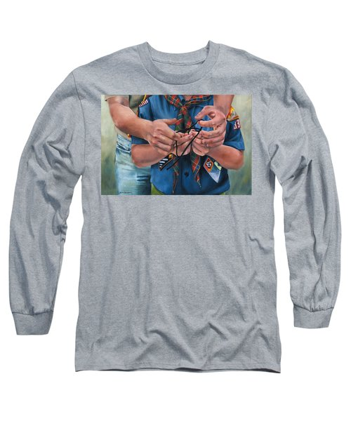 Long Sleeve T-Shirt featuring the painting Ties That Bind by Lori Brackett