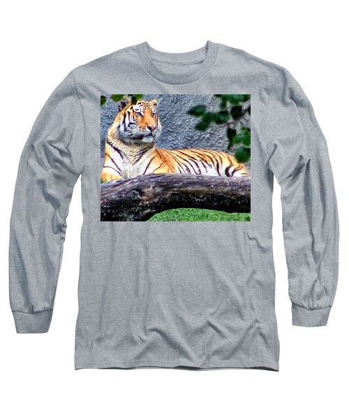 Long Sleeve T-Shirt featuring the photograph Tiger 1 by Dawn Eshelman