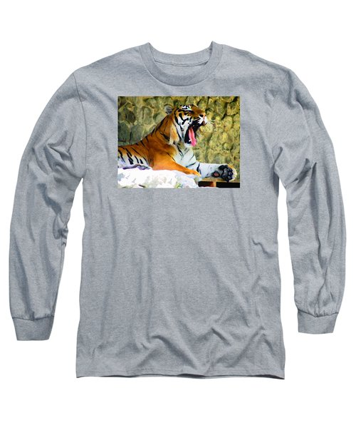 Tiger Long Sleeve T-Shirt by Oleg Zavarzin
