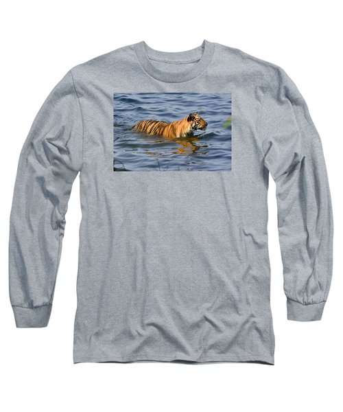 Tigress Of The Lake Long Sleeve T-Shirt by Fotosas Photography