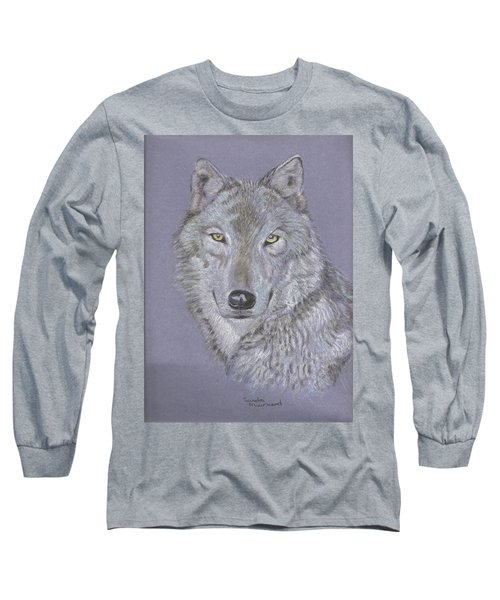 Timber Wolf Portrait Long Sleeve T-Shirt