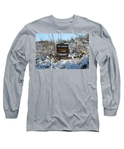 Long Sleeve T-Shirt featuring the photograph Time To Change The Sign by David S Reynolds