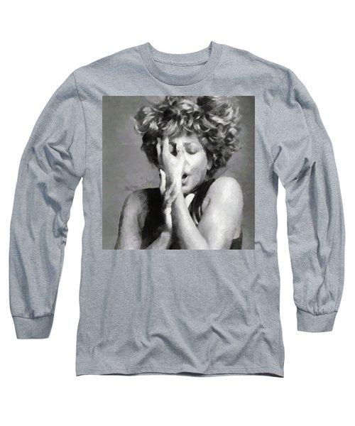Tina Turner - Emotion Long Sleeve T-Shirt by Paulette B Wright