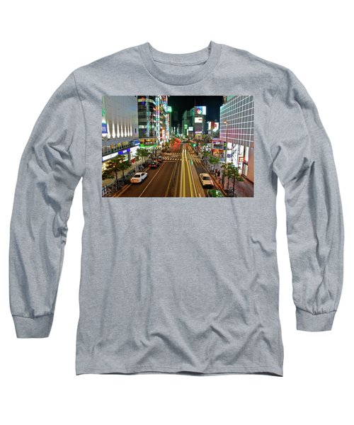 Tokyo Neon Streaks Long Sleeve T-Shirt