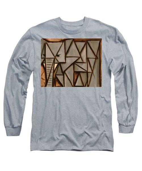 Tommervik Triangle Elephant Art Print Long Sleeve T-Shirt