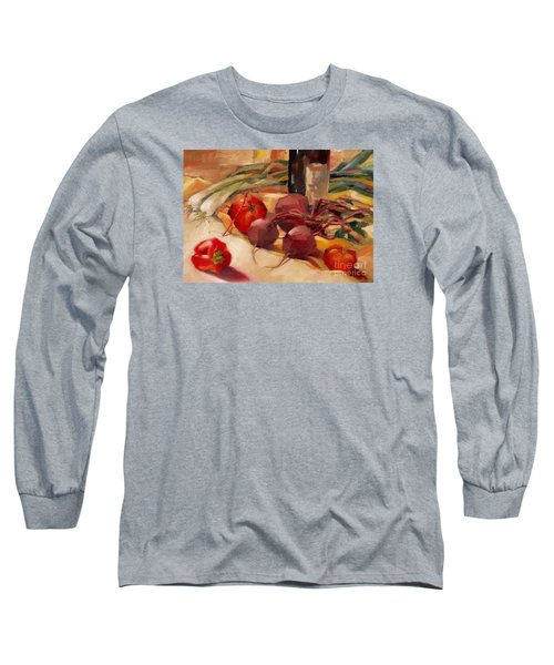 Long Sleeve T-Shirt featuring the painting Tom's Bounty by Michelle Abrams