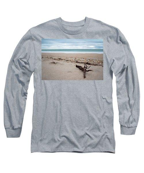 Topsail Island Driftwood Long Sleeve T-Shirt by Shane Holsclaw