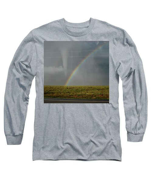 Tornado And The Rainbow Long Sleeve T-Shirt