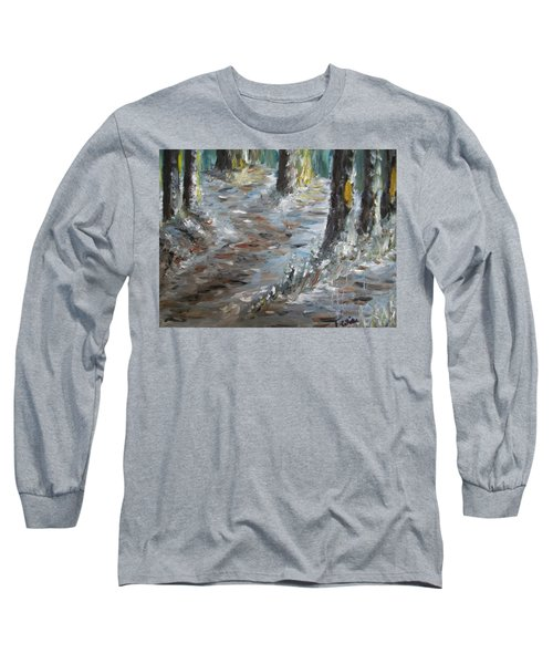 Long Sleeve T-Shirt featuring the painting Touch Of Christmas by Teresa White