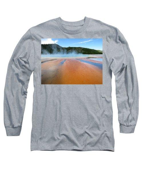 Toward The Blue Stream Long Sleeve T-Shirt by Laurel Powell