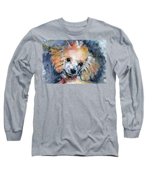Toy Poodle Long Sleeve T-Shirt by John D Benson
