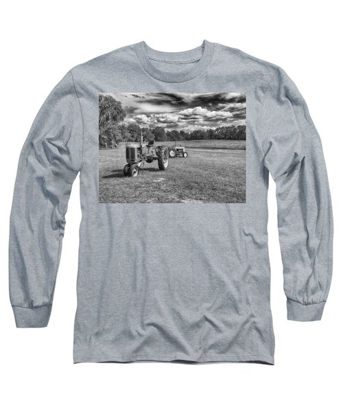 Long Sleeve T-Shirt featuring the photograph Tractors by Howard Salmon