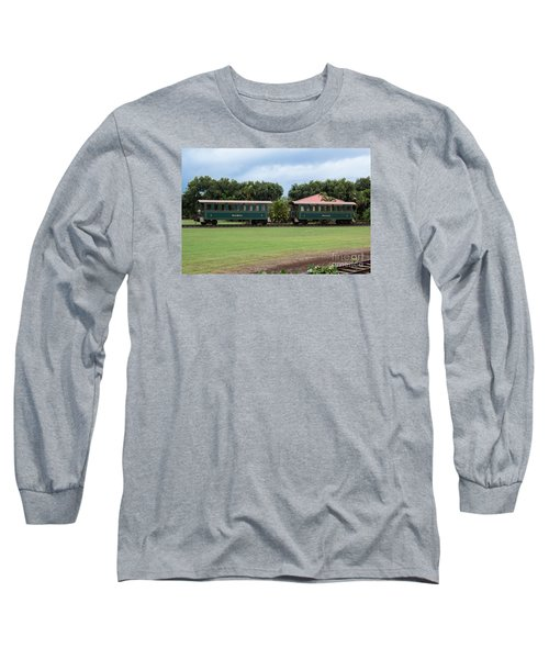Long Sleeve T-Shirt featuring the photograph Train Lovers by Suzanne Luft