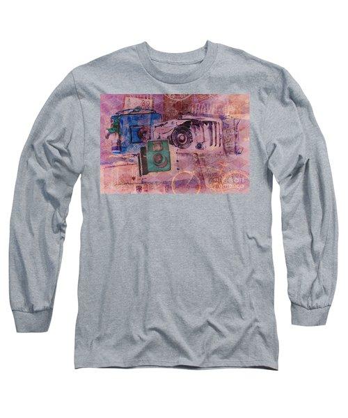 Travel Log Long Sleeve T-Shirt by Erika Weber