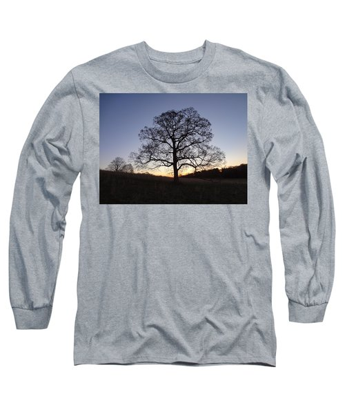 Long Sleeve T-Shirt featuring the photograph Tree At Dawn by Michael Porchik