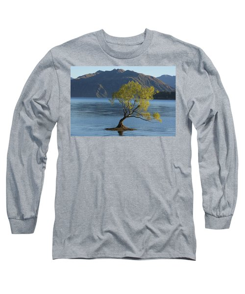 Tree In Lake Wanaka Long Sleeve T-Shirt by Stuart Litoff