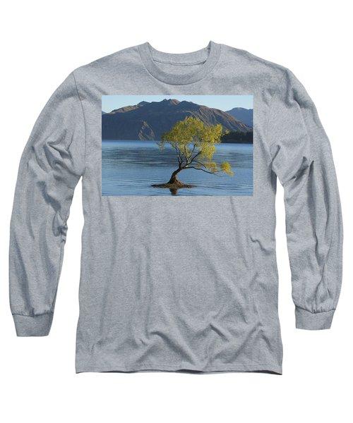 Tree In Lake Wanaka Long Sleeve T-Shirt