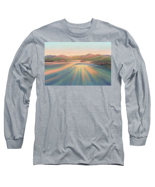 Tree Shadows Sunset Tasmania Long Sleeve T-Shirt