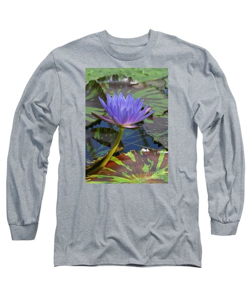 Long Sleeve T-Shirt featuring the photograph Tropic Water Lily 15 by Rudi Prott