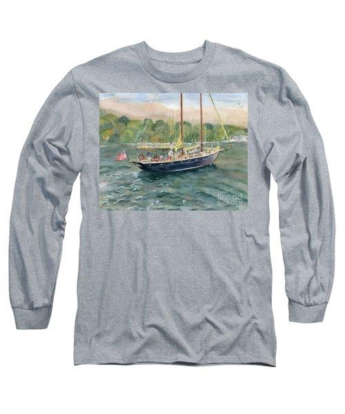 True Love Schooner Long Sleeve T-Shirt by Melly Terpening