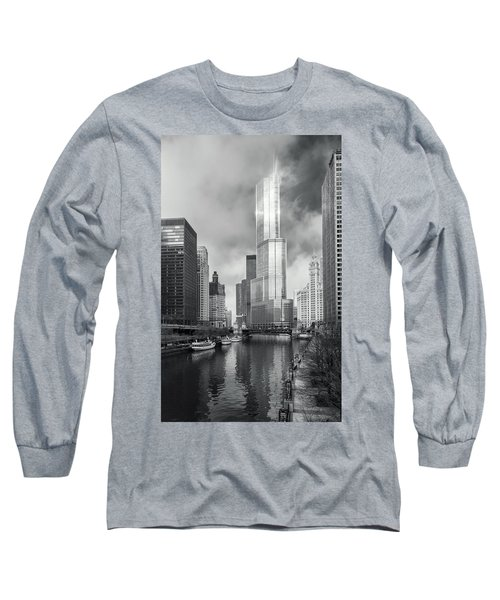 Long Sleeve T-Shirt featuring the photograph Trump Tower In Chicago by Steven Sparks