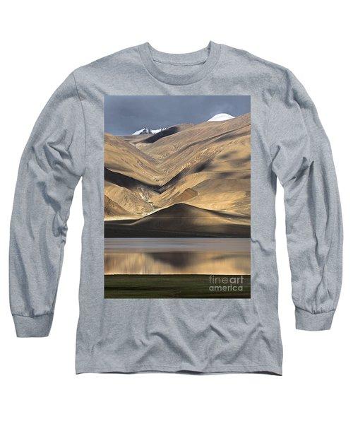 Golden Light Tso Moriri, Karzok, 2006 Long Sleeve T-Shirt by Hitendra SINKAR