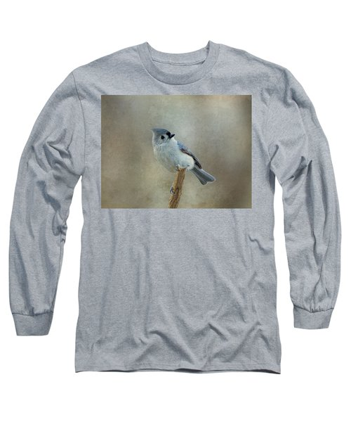 Tufted Titmouse Watching Long Sleeve T-Shirt