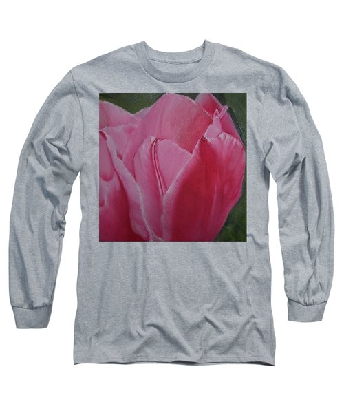 Tulip Blooming Long Sleeve T-Shirt by Claudia Goodell