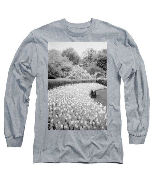 Tulips And Bench II Long Sleeve T-Shirt